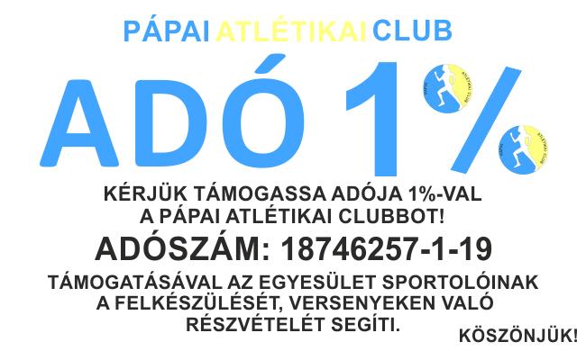 adó 1% papai atlétikai club